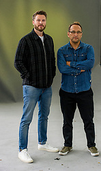 Pictured: Michael Brooks and Rick Edwards<br /> <br /> Michael Edward Brooks is an English science writer, noted for explaining complex scientific research and findings to the general population.<br /> <br /> Richard Philip Edwards (born 20 May 1979 in Enfield, London) is an English television presenter who works mainly for Channel 4, E4 and ITV2. Edwards presented T4 for four years, and has also presented Tool Academy, Freshly Squeezed, E4 Music and much of Channel 4's 2012 Paralympics coverage.