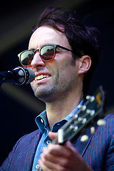 27 April 2013. New Orleans, Louisiana,  USA. .New Orleans Jazz and Heritage Festival. Andrew Bird on the Fais Do-Do stage..Photo; Charlie Varley.