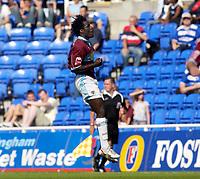 Photo: Daniel Hambury.<br /> Reading v Burnley. Coca Cola Championship.<br /> 29/08/2005.<br /> <br /> Burnley's Ade Akinbiyi celebrates his goal.