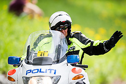 May 20, 2018 - Lillehammer, NORWAY - 180520 A police man on a motor bike during the last stage of the Tour of Norway on May 20, 2018 in Lillehammer..Photo: Jon Olav Nesvold / BILDBYRÃ…N / kod JE / 160254 (Credit Image: © Jon Olav Nesvold/Bildbyran via ZUMA Press)