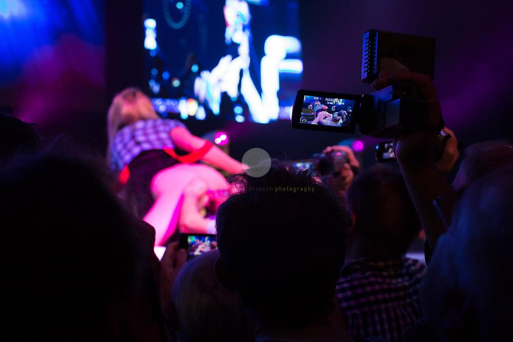 Berlin Expo Center, Berlin, GERMANY, 11.10.2018 - VENUS Erotic and Lifestyle fair. The VENUS Berlin Fair is among the largest international erotic trade fairs, with more than 250 exhibitions from 40 countries and 30,000 visitors. <br /> <br /> Messegelaende unterm Funkturm, Berlin. 11.10.2018. Erotic und Lifestyle Messe VENUS: Auf der 22. Ausgabe der VENUS werden Anhaenger des toleranten Lifestyle wieder alle Facetten der Sexualitaet geboten. Die VENUS gehoert mit mehr als 250 Ausstellern aus 40 Laendern und ueber 30000 Besuchern zu den groessten Erotikmessen der Welt.