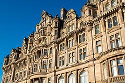 Exterior view of Balmoral Hotel on Princes Street in Edinburgh, Scotland, United Kingdom