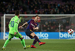 January 17, 2019 - Barcelona, Catalonia, Spain - Ivan Rakitic and Bardhi during the match between FC Barcelona and Levante UD, corresponding to the 1/8 final of the spanish cup, played at the Camp Nou Stadium, on 17th January 2019, in Barcelona, Spain. (Credit Image: © Joan Valls/NurPhoto via ZUMA Press)