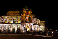 Semper Opera House, Theaterplatz, Dresden, Saxony, Germany