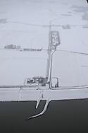 Luchtfoto Roptazijl aan de Waddenzee