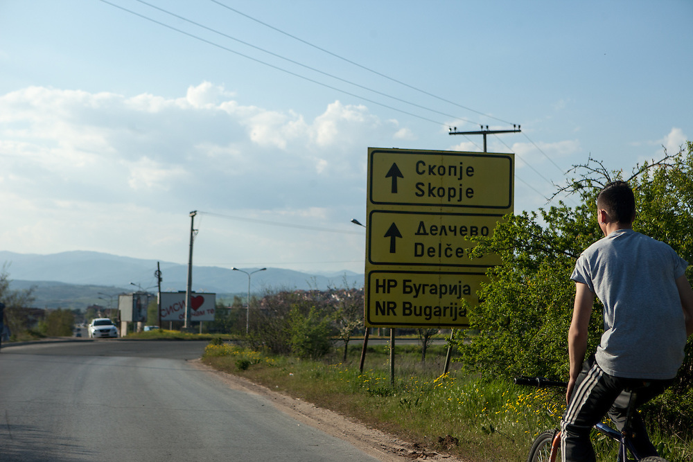 The road from Crnik to Delcevo.