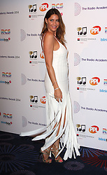 LISA SNOWDON arrives for the Radio Academy Awards, London, United Kingdom. Monday, 12th May 2014. Picture by i-Images