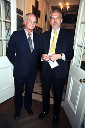 Left to right, MICHAEL OLIZAR Vice Chairman of The Polish Institute and the Ukranian Ambassador IHOR KHARCHENKO at a Literary Evening to celebrate the publication of Masters & Commanders by Andrew Roberts held at The Polish Institute and Sikorski Museum, 20 Princes Gate, London SW7 on 1st October 2008.
