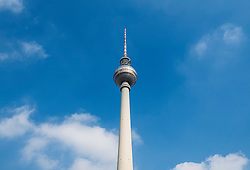 Television Tower, at Alexanderplatz in Mitte Berlin Germany