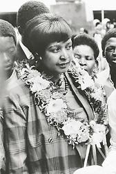 Winnie Mandela / Winnie Madikizela-Mandela / Image used in a collage graphic on 25/4/03. Independent Archives.