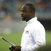 Bethune Cookman head coach Brian Jenkins is seen during the Florida Classic NCAA football game between the FAMU Rattlers and the Bethune Cookman Wildcats at the Florida Citrus bowl on Saturday, November 22, 2014 in Orlando, Florida. (AP Photo/Alex Menendez)