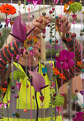 © Licensed to London News Pictures. 19/05/2013. London, England. RHS Chelsea Flower Show prepares for the openting to the public on Tuesday. Photo credit: Bettina Strenske/LNP