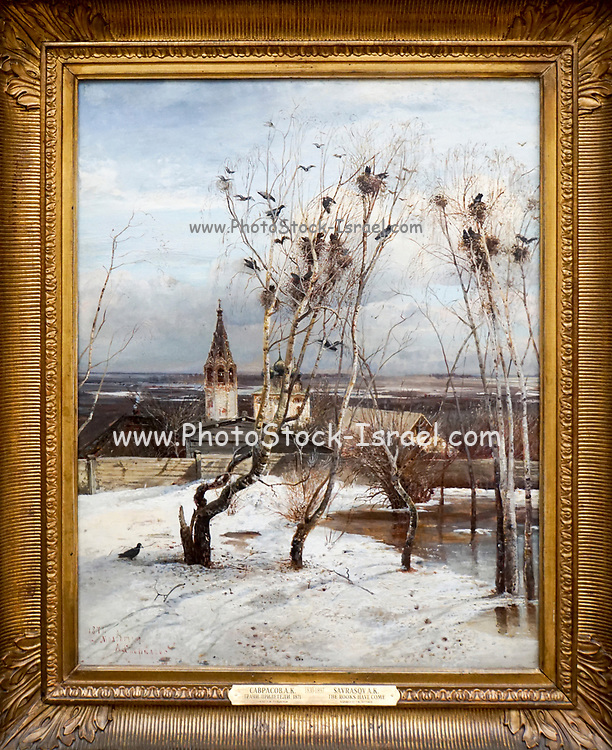 Alexei Savrasov The Rooks Have Come (1871), Painting on display at the State Tretyakov Gallery (GTG) an art gallery in Moscow, Russia, the foremost depository of Russian fine art in the world.
