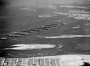 Ackroyd 01237-10. Astoria Oregon aerials. January 24, 1949 Merchant Reserve craft, Tongue Point