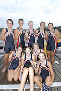 Ottensheim, AUSTRIA.  A  Final,   USA JW8+  gold Medallist, at the 2008 FISA Senior and Junior Rowing Championships,  Linz/Ottensheim. Saturday,  26/07/2008.  [Mandatory Credit: Peter SPURRIER, Intersport Images] Rowing Course: Linz/ Ottensheim, Austria