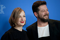 Producer Maria Drandaki Director, Screenwriter, Syllas Tzoumerkas at the photocall for the film The Miracle Of The Sargasso Sea (To Thávma Tis Thálassas Ton Sargassón) at the 69th Berlinale International Film Festival, on Saturday 9th February 2019, Hotel Grand Hyatt, Berlin, Germany.