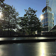 Tower Place, London. Beautiful light and reflections on morning bike ride. Shot on iPhone 6.