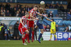 March 9, 2019 - High Wycombe, Buckinghamshire, United Kingdom - Sunderland Jimmy Dunne wins a header during the Sky Bet League 1 match between Wycombe Wanderers and Sunderland at Adams Park, High Wycombe, England  on Saturday 9th March 2019. (Credit Image: © Mi News/NurPhoto via ZUMA Press)