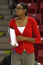 01 September 2012:  Assistant Coach Victoria Brown during an NCAA womens volleyball match between the Oregon State Beavers and the Illinois State Redbirds at Redbird Arena in Normal IL