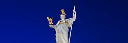 15.12.2010, Innere Stadt, Wien, AUT,  Wien Feature, im Bild Statue Pallas Athene vor dem Parlament in Wien// EXPA Pictures © 2010, PhotoCredit: EXPA/ M. Gruber