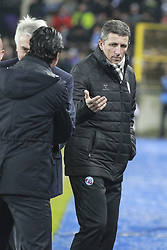 December 13, 2017 - Strasbourg, France - Strasbourg's French head coach Thierry Laurey during the french League Cup match, Round of 16, between Strasbourg and Paris Saint Germain on December 13, 2017 in Strasbourg, France. (Credit Image: © Elyxandro Cegarra/NurPhoto via ZUMA Press)