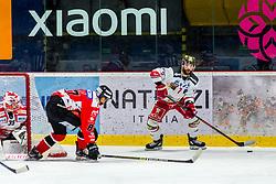 06.03.2020, Ice Rink, Znojmo, CZE, EBEL, HC Orli Znojmo vs HCB Suedtirol Alperia, Viertelfinale, 2. Spiel, im Bild v.l. Teemu Tapio Lassila (HC Orli Znojmo) Ondrej Miklis (HC Orli Znojmo) Daniel Catenacci (HCB Sudtirol Alperia) // during the Erste Bank Eishockey League 2nd quarterfinal match between HC Orli Znojmo and HCB Suedtirol Alperia at the Ice Rink in Znojmo, Czechia on 2020/03/06. EXPA Pictures © 2020, PhotoCredit: EXPA/ Rostislav Pfeffer