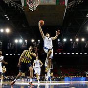 Anadolu Efes's Birkan Batuk (C) during their Turkish BEKO Basketball League derby match Anadolu Efes between Fenerbahce at Abdi ipekci Arena in Istanbul, Turkey, Monday, February 03, 2014. Photo by Aykut AKICI/TURKPIX