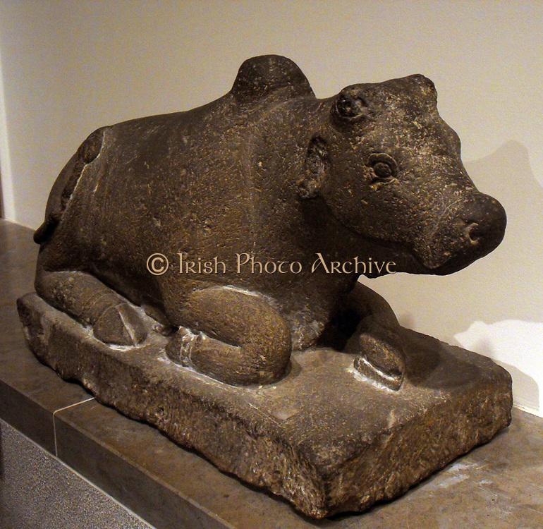 Nandi (Hindu cow god),from Java in Indonesia. IX century AD