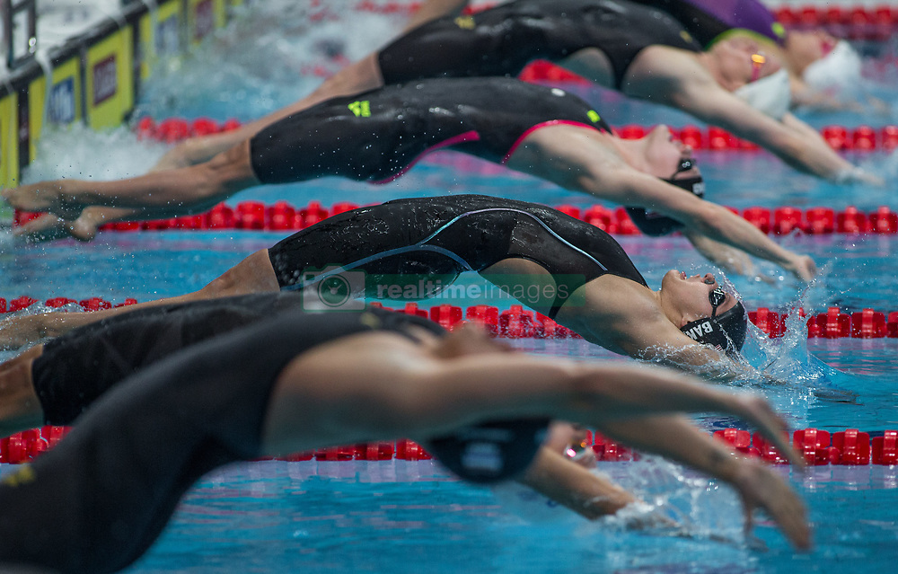 October 4, 2018 - Budapest, Hungary - Baker Kathleen of USA competes in the Womens 50m Backstroke on day one of the FINA Swimming World Cup held at Duna Arena Swimming Stadium on Okt 04, 2018 in Budapest, Hungary. (Credit Image: © Robert Szaniszlo/NurPhoto/ZUMA Press)