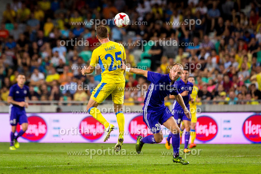 Valere Germain of Olympic Marseille during football match between NK Domzale and Olympique de Marseille in First game of UEFA Europa League playoff round, on August 17, 2017 in SRC Stozice, Ljubljana, Slovenia. Photo by Ziga Zupan / Sportida