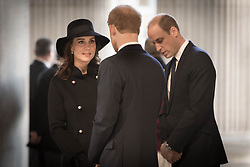 The Duke and Duchess of Cambridge with Prince Harry (centre) attend the Grenfell Tower National Memorial Service at St Paul's Cathedral in London, to mark the six month anniversary of the Grenfell Tower fire.