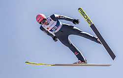21.02.2019, Bergiselschanze, Innsbruck, AUT, FIS Weltmeisterschaften Ski Nordisch, Seefeld 2019, Nordische Kombination, Skisprung, Training, im Bild Karl Geiger (GER) // Karl Geiger of Germany during a training of Ski Jumping competition for Nordic Combined of FIS Nordic Ski World Championships 2019. Bergiselschanze in Innsbruck, Austria on 2019/02/21. EXPA Pictures © 2019, PhotoCredit: EXPA/ JFK