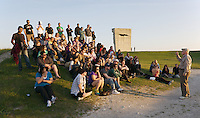 Pinchas Gutter, a holocaust survivor, speaks to students at the former Plaszow concentration camp. March of Remembrance and Hope 2009.    <br /> 7 Days of Remembrance and Hope.