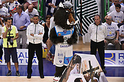 DESCRIZIONE : Sassari Lega A 2014-2015 Banco di Sardegna Sassari Grissinbon Reggio Emilia Finale Playoff Gara 6 <br /> GIOCATORE : arbitro Roberto Begns Gianluca Sardella mascotte<br /> CATEGORIA : pregame curiosita arbitro<br /> SQUADRA : arbitro Banco di Sardegna Sassari<br /> EVENTO : Campionato Lega A 2014-2015<br /> GARA : Banco di Sardegna Sassari Grissinbon Reggio Emilia Finale Playoff Gara 6 <br /> DATA : 24/06/2015<br /> SPORT : Pallacanestro<br /> AUTORE : Agenzia Ciamillo-Castoria/GiulioCiamillo<br /> GALLERIA : Lega Basket A 2014-2015<br /> FOTONOTIZIA : Sassari Lega A 2014-2015 Banco di Sardegna Sassari Grissinbon Reggio Emilia Finale Playoff Gara 6<br /> PREDEFINITA :