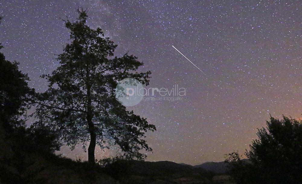 Estrella fugaz en cielo estrellado. La Rioja ©Daniel Acevedo / PILAR REVILLA