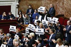 October 2, 2018 - Paris - Bon debarras pour Manuel Valls - les insoumis (Credit Image: © Panoramic via ZUMA Press)