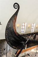 Norway, Oslo, Bygdøy. The Oseberg Ship at the Viking ship museum.