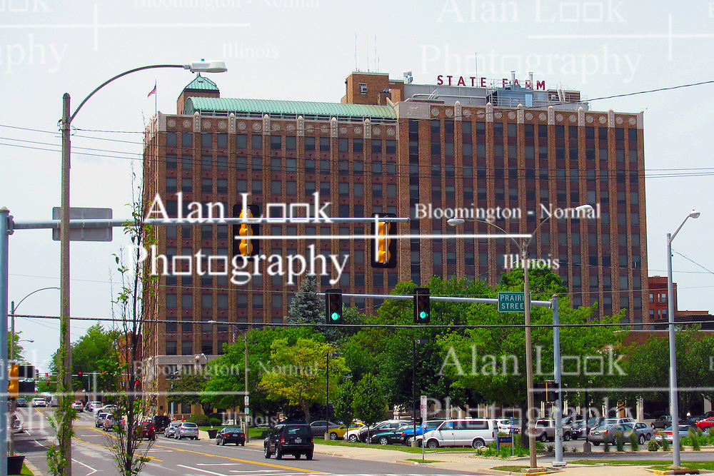 05 June 2014:   Downtown Bloomington. State Farm Insurance building.  AKA - Home Office, Fire Building, Downtown Building.