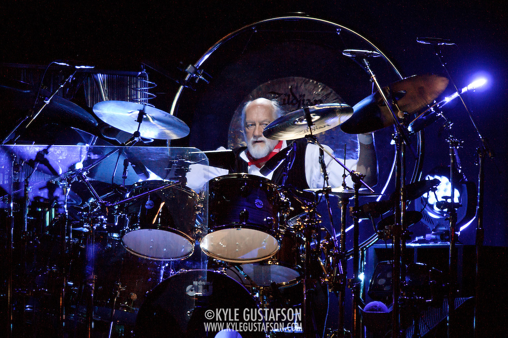"WASHINGTON, DC - April 9th  2013 -  Mick Fleetwood of Fleetwood Mac performs at the Verizon Center in Washington, D.C. during the band's 2013 World Tour. Fleetwood Mac, touring for the first time since 2009, is including two new songs in their setlist, ""Sad Angel"" and ""Without You."" (Photo by Kyle Gustafson/For The Washington Post)"