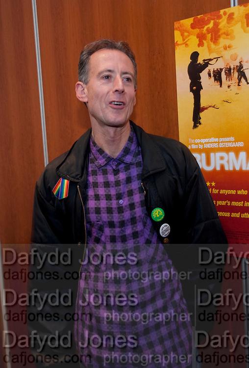 PETER TATCHELL, ÒSAFFRON TUESDAYÓ UK PREMIERE OF BURMA VJ <br />  BAFTA, Piccadilly, LONDON. 14 July 2009<br /> PETER TATCHELL, ?SAFFRON TUESDAY? UK PREMIERE OF BURMA VJ <br />  BAFTA, Piccadilly, LONDON. 14 July 2009