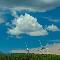 Wind turbines generate electricity near Monticello, Utah, a gateway to Bears Ears National Monument.