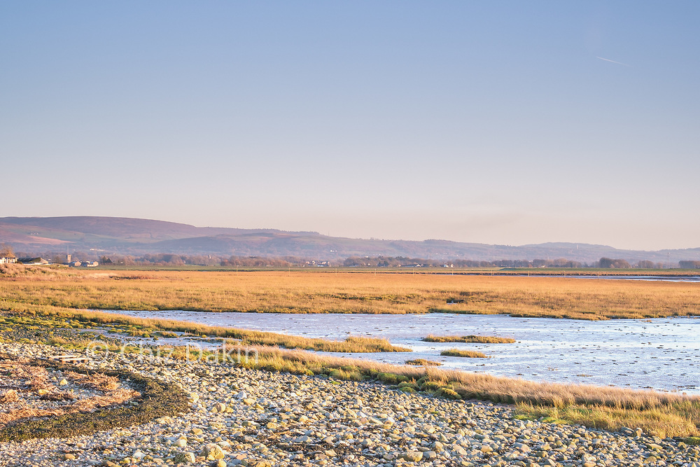 Rocky and marshy foreshore in the Cocker Estuary, Cockerham Sands