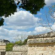Architectural detail of Chichen Itza. Yucatan, Mexico.