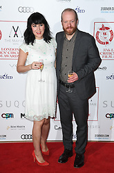 Alice Lowe and Steve Oram arriving at the London Film Critics Circle Awards 2017, the May Fair Hotel, London.