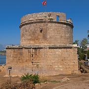 Hidirlik Tower, Roman fortification of the 2nd century in Antalya old town, Turkey