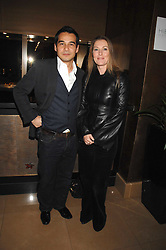 SOPHIE CONRAN and NICK LEE at a party to celebrate the first year if ING's sponsorship of the Renault Formula 1 team, held at the Mayfair Hotel, Stratton Street, London W1 on 28th November 2007.<br />