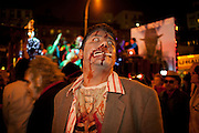 A smoking zombie with bloodied lungs
