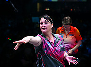 Corrine Hammond during the BDO World Professional Championships at the O2 Arena, London, United Kingdom on 4 January 2020.