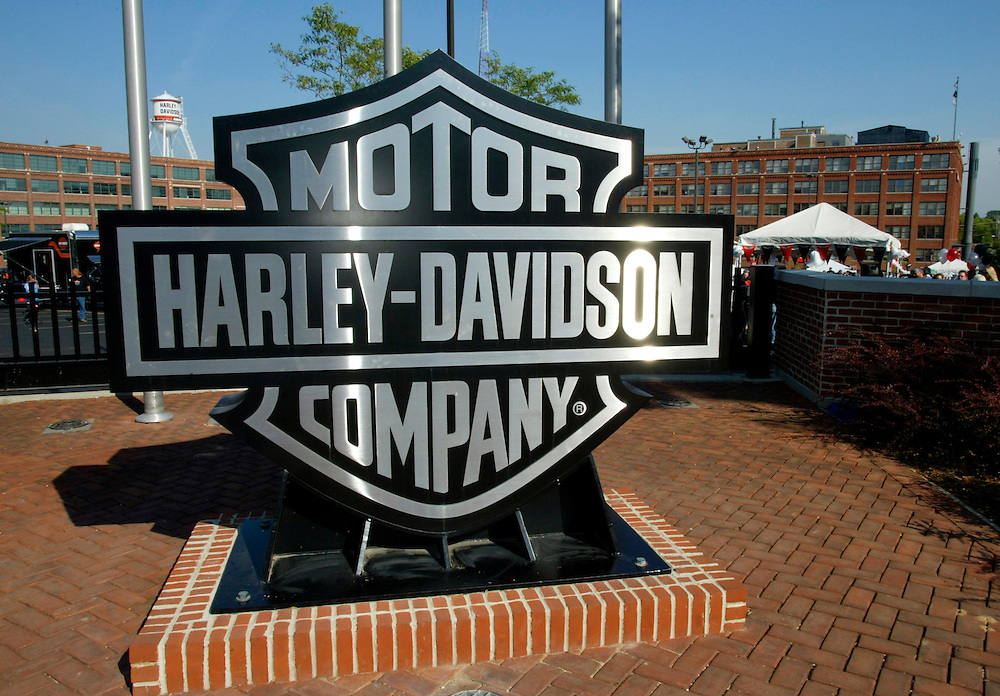 The Harley-Davidson company headquarters in Milwaukee August 28, 2003. The legendary American company is celebrating its 100th anniversary in a four-day celebration beginning today. REUTERS/Rick Wilking