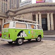 Hippie bus (mini-van) in Warsaw